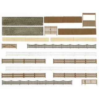 Set de clôtures et portes environ 200cm -HO-1/87-BUSCH 6017