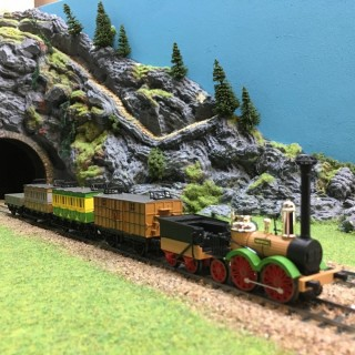 Rame vapeur 1839 Saxe 5 éléments époque I -HO-1/87-PIKO 58105