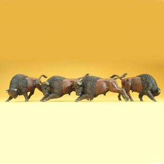 4 bisons -HO-1/87-PREISER 20391