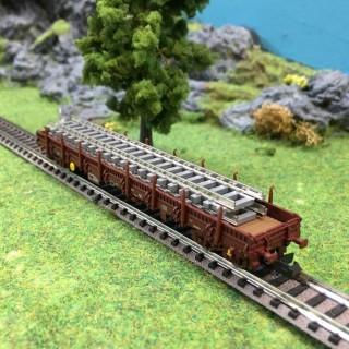 Wagon plat à rancher Res Sncf ep VI -N-1/160-FLEISCHMANN 828819