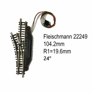 Rail aiguillage droit gauche électrique 104.2mm-N-1/160-FLEISCHMANN 22249