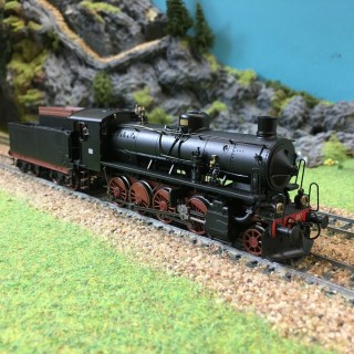 Locomotive Gr.740 Caprotti FS époque III-HO-1/87-RIVAROSSI HR2454