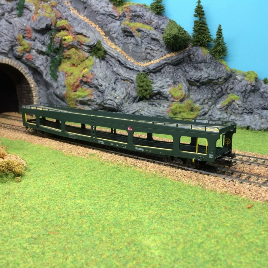 Wagon porte autos DDms dev66 Sncf époque VI-HO-1/87-HERIS 14125
