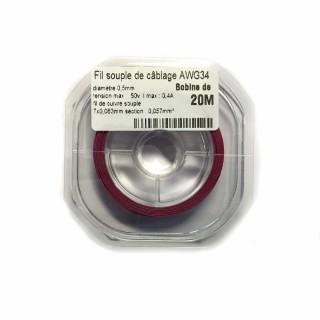 Fil souple de câblage souple violet 0.5mm2 cuivre 20ml -AWG34VI
