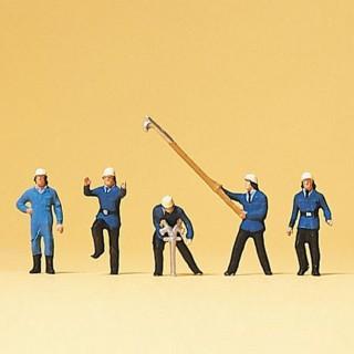 5 pompiers en action N-1/160-PREISER 79116