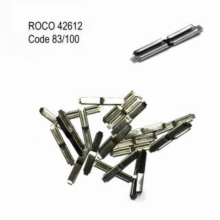 24 éclisses métallique pour passer code 83 à 100-HO-1/87-ROCO 42612