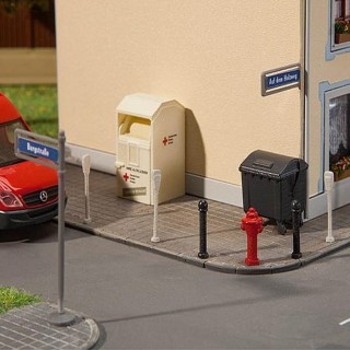 Plaque de rue, borne incendie, etc... -HO-1/87-FALLER  180450