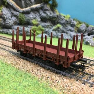 Wagon plat à ranchers époque IV -HO-1/87-MARKLIN 4459