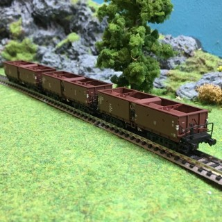 3 wagons trémies à ballast epIV -N-1/160-ARNOLD HN6364
