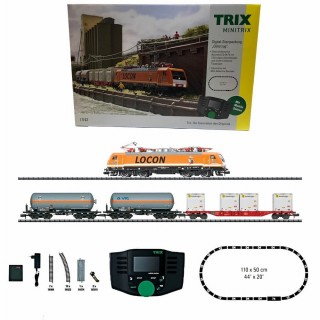 Coffret de démarrage locomotive + 3 wagons digitale-N-1/160-TRIX 11143