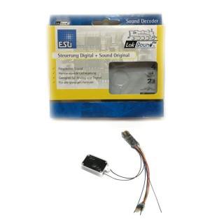 Décodeur sonore Loksound micro fil à 6 broches DCC N et HO-ESU-54800