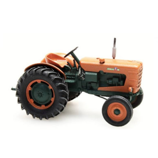 Tracteur orange Someca patiné roues large-HO-1/87-REE BA004