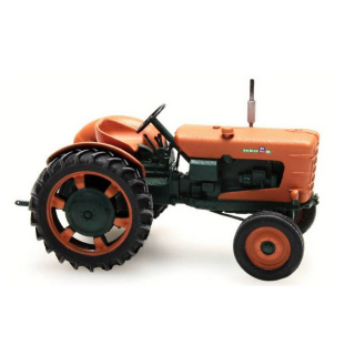 Tracteur orange Someca patiné roues etroites-HO-1/87-REE BA003