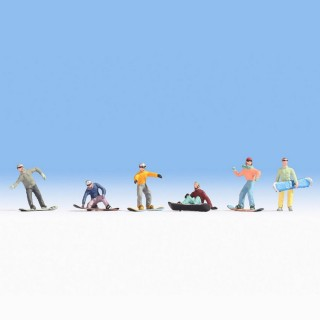 6 snowboarders -HO-1/87-NOCH 15826