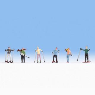 6 skieurs -HO-1/87-NOCH 15827