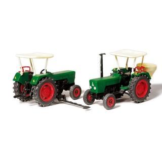 2 Tracteurs Deutz D 6206 -HO-1/87-PREISER 17920