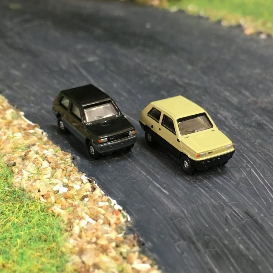 2 voitures fiat panda n 1 160 herpa 065962 002 mod lisme ferroviaire. Black Bedroom Furniture Sets. Home Design Ideas