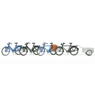 4 vélos à monter -HO-1/87-PREISER 17161