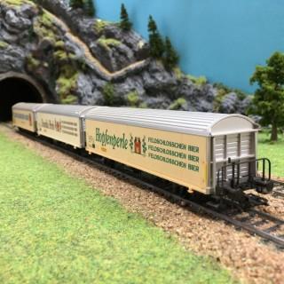 Coffret 3 wagons bières -HO-1/87- MARKLIN 84785 DEP40-109