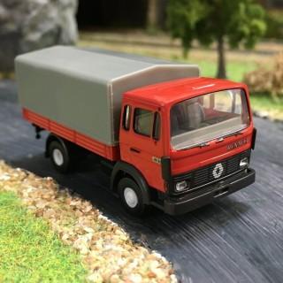Renault JN90 rouge baché -HO-1/87-BREKINA 34855