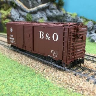 Wagon portes coulissantes B & O 293823-HO-1/87-TRIX 24902-7 DEP68-002