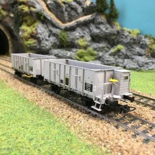 Set de 2 wagons Tombereaux OCEM 29 -HO-1/87-LSMODELS 30386 DEP39-40