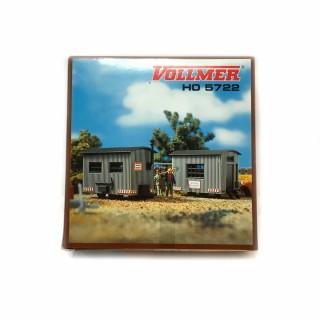 2 cabanes de chantiers -HO-1/87 -VOLLMER 5722 DEP17-520