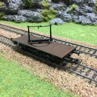 Wagon Traverse pivotante-HO-1/87-FLEISCHMANN 5222F DEP72-005