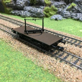 Wagon Traverse pivotante-HO-1/87-FLEISCHMANN 5222F DEP72-004