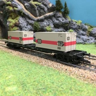 Wagon porte container DB-HO-1/87-ROCO 47689 DEP26-56