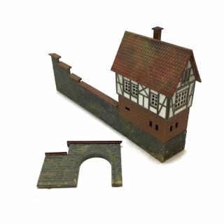 Maquette maison avec murs -HO-1/87- DEP64-118