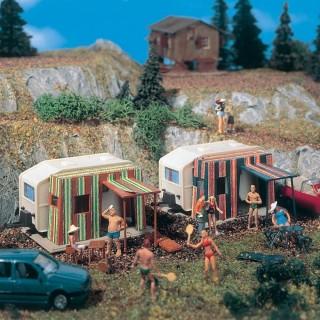 2 Caravanes -HO-1/87-VOLLMER 45145