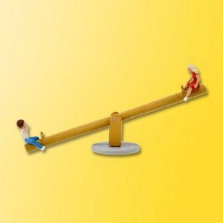 Balançoire animée avec enfants -HO-1/87-VIESSMANN 1503