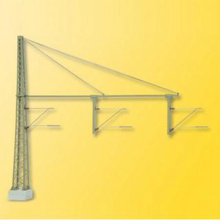 Mat de ligne triple pour caténaires -HO-1/87-VIESSMANN 4161