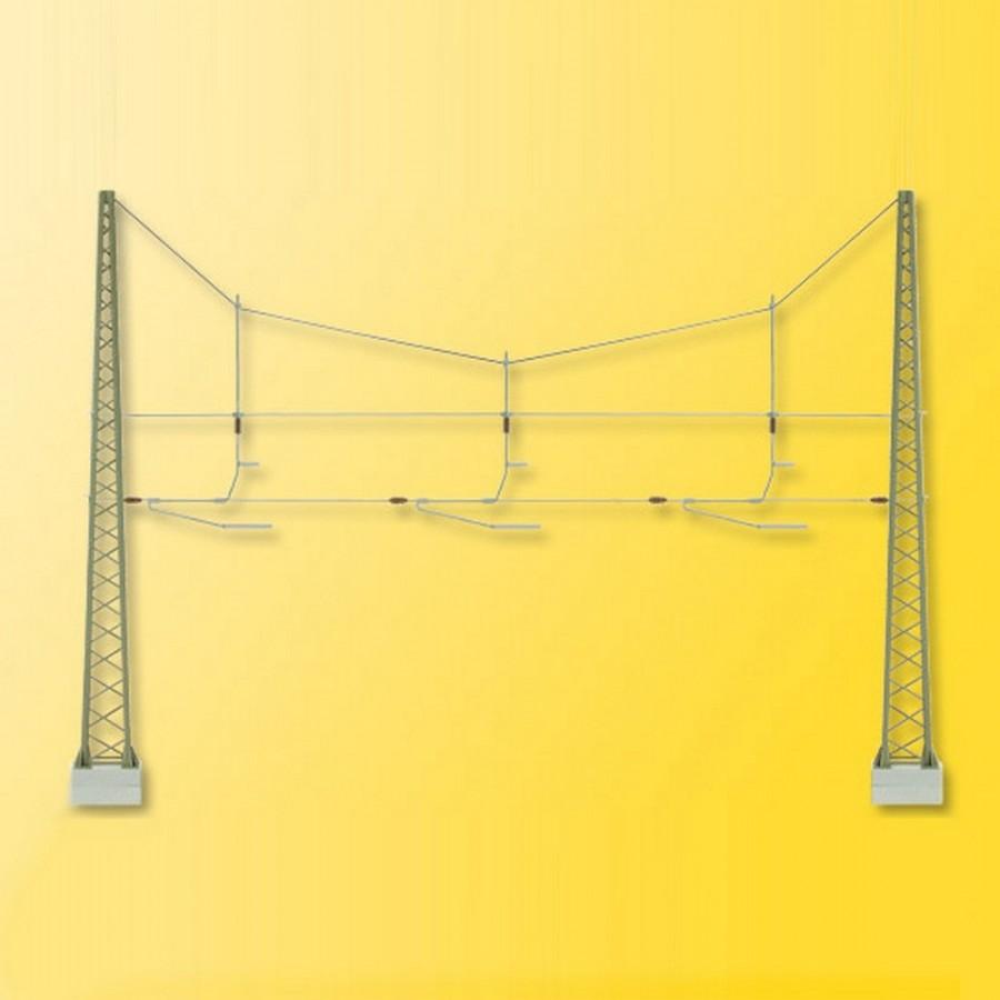 Double Mat de ligne triple pour caténaires -HO-1/87-VIESSMANN 4162