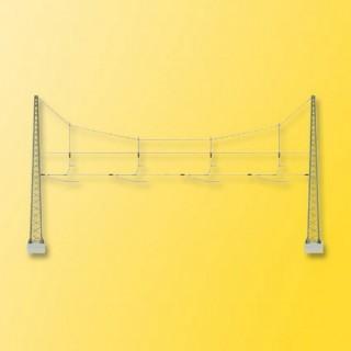 Double Mat de ligne quadruple pour caténaires -HO-1/87-VIESSMANN 4163