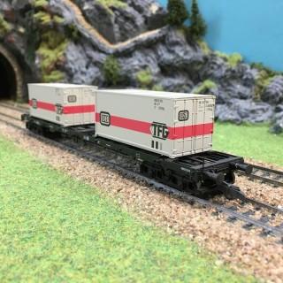 Wagon porte container DB-HO-1/87-ROCO 47689 DEP26-55