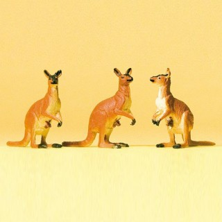 3 kangourous -HO-1/87-PREISER 20392
