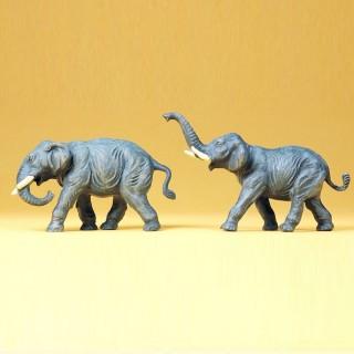 2 éléphants -HO-1/87-PREISER 20375
