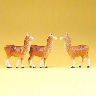 3 lamas -HO-1/87-PREISER 20389