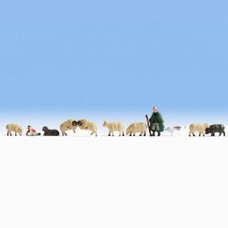 Berger et 8 moutons -N-1/160-NOCH 36750
