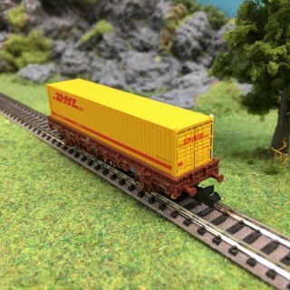 Wagon porte container DHL -N-1/160-ARNOLD HN6358