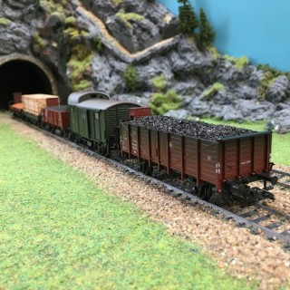 Coffret de 5 Wagons de marchandises-HO-1/87-MARKLIN 47891 DEP73-036