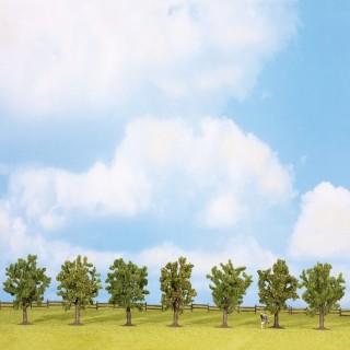 7 arbres fruitiers de 80mm- Toutes échelles-NOCH 25090