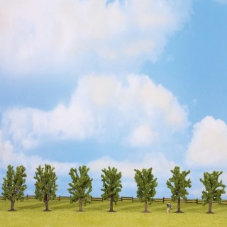 7 arbres feuillus de 80mm- Toutes échelles-NOCH 25088
