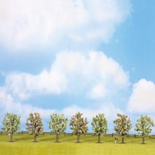 7 arbres en fleurs de 80mm- Toutes échelles-NOCH 25092