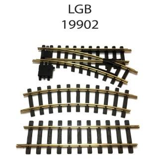 Coffret de rails avec aiguillages train de jardin -G-1/28-LGB 19902