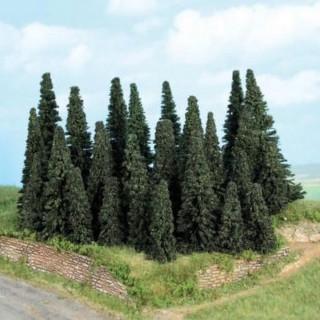 Forêt de 24 sapins 5 à 11 cm- Toutes échelles-HEKI 2261