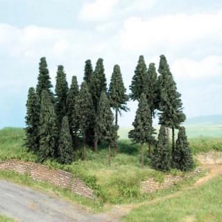 Forêt de 20 sapins 5 à 11 cm- Toutes échelles-HEKI 2262