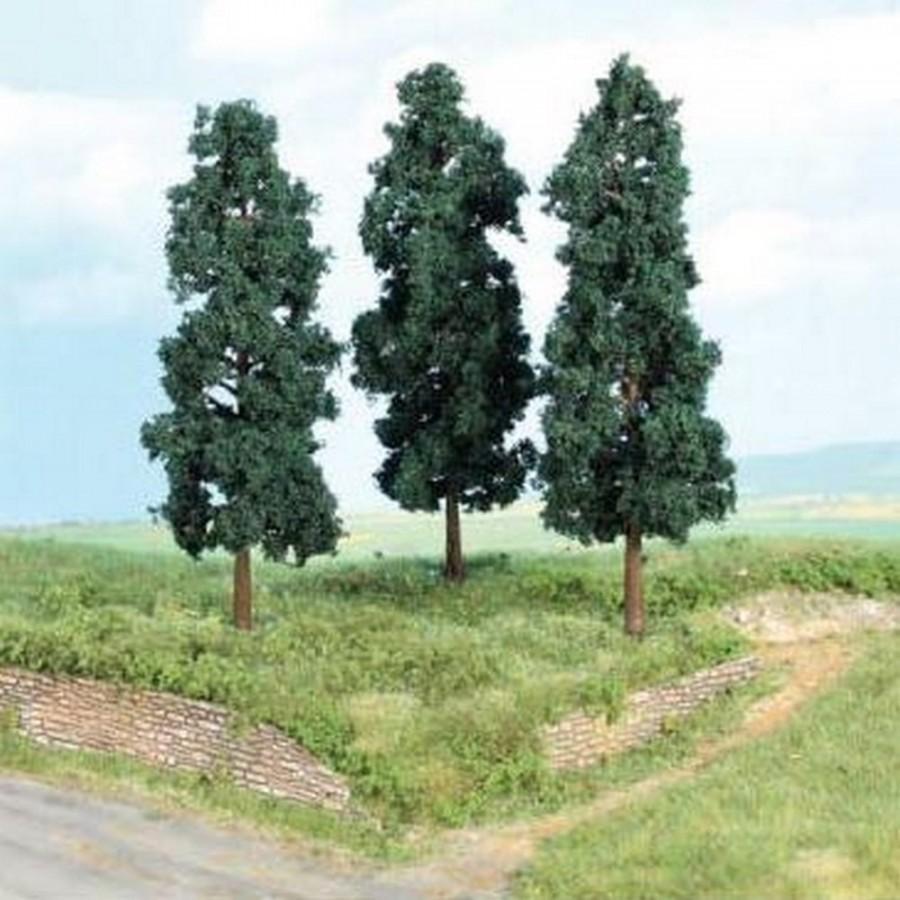 3 peupliers noirs d'environ 16 cm- Toutes échelles-HEKI 1956